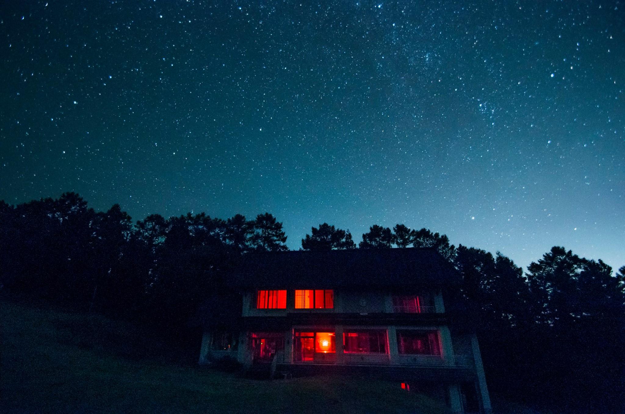 八森山の冬の晴れた夜