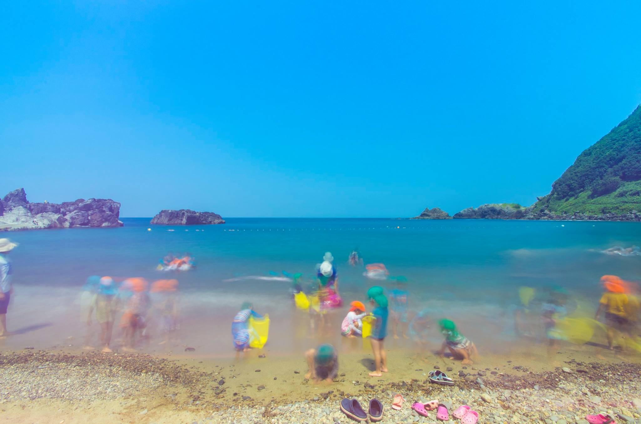 三瀬海岸の海水浴