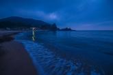 三瀬海岸の夕暮れ