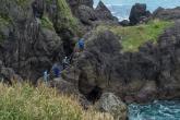 三瀬海岸の磯場づくり活動